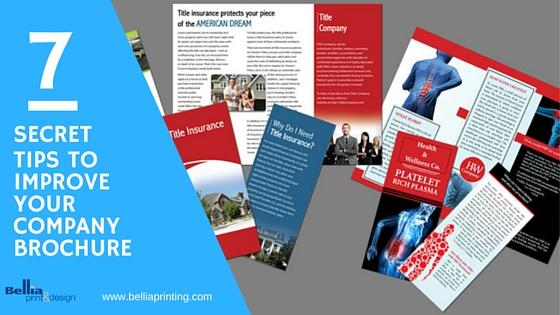 improve your brochures