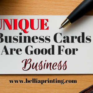Unique Business Cards Are Good For Business